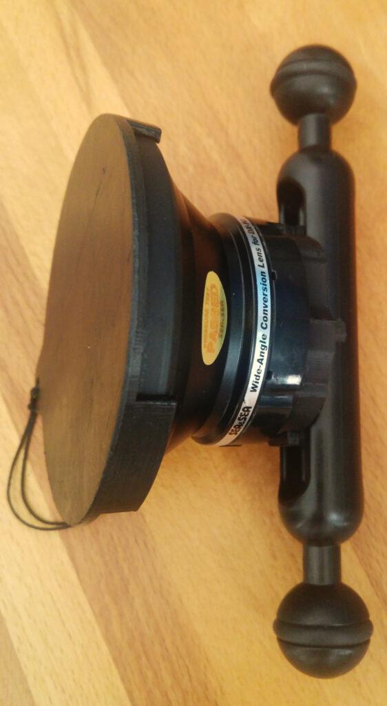 Wide angle lens holder assembled
